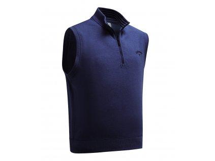 CALLAWAY French Terry 1/4 Zip pánská golfová vesta tmavě modrá zepředu