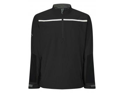 CALLAWAY pánská bunda 1/4 Zip Chest Strip černá zepředu