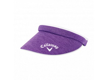 CALLAWAY dámský kšilt Clip fialovo-bílý z boku