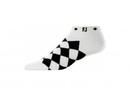 FOOTJOY dámské ponožky Prodry Lightweight Fashion kára černo-bílé