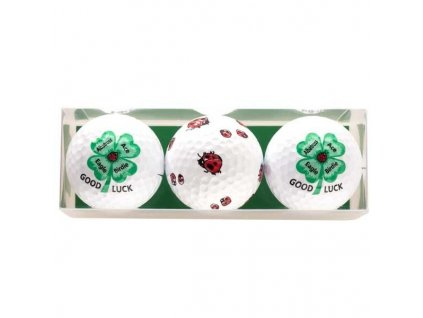 SPORTIQUES dárkové balení míčků se čtyřlístkem a beruškou