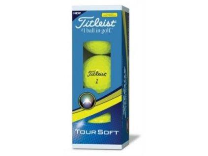 TITLEIST Tour Soft golfové míčky žluté (3 ks)