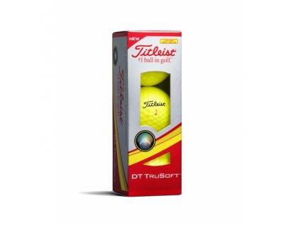 TITLEIST DT Trusoft golfové míčky žluté (3 ks)