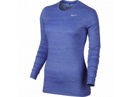 NIKE dámské spodní triko Base Layer modré (Velikost oblečení L)
