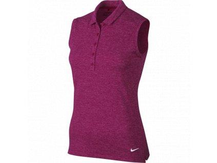 NIKE dámské tričko Icon Heather fialové (Velikost oblečení XS)