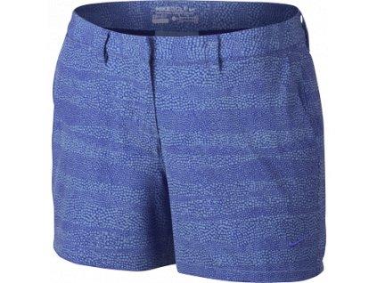 """NIKE dámské kraťasy Golf Printed 4.5"""" modré (Velikost oblečení 36)"""