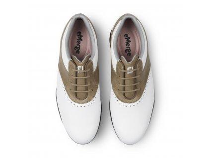FOOTJOY dámské golfové boty Emerge bílo-hnědé (Velikost bot 40)
