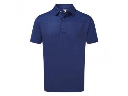FOOTJOY pánské tričko Stretch Lisle Engineered Tonal Print modré zepředu