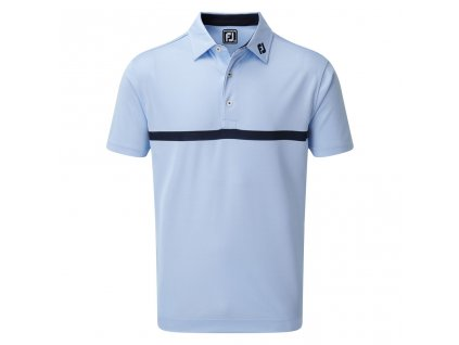 FOOTJOY pánské tričko Engineered Nailhead Jacquard modré zepředu