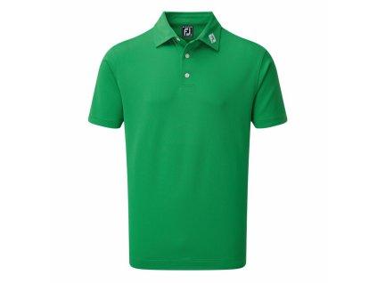 FOOTJOY pánské tričko Stretch Pique Solid zelené zepředu