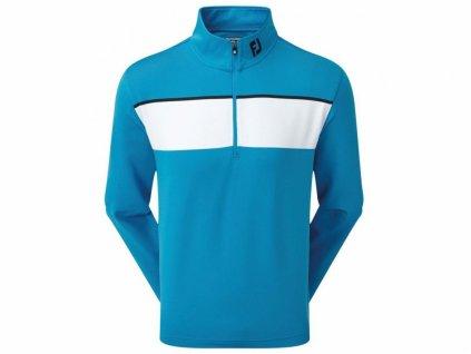 FOOTJOY Jersey Chest Stripe pánská golfová mikina modro-bílá zepředu