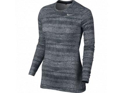 NIKE dámské spodní triko Base Layer černo-bílé (Velikost oblečení XL)