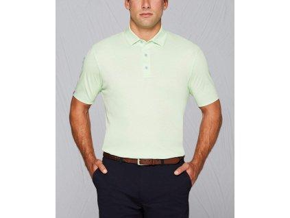 CALLAWAY pánské tričko Tour Authentic Mercerized Cotton zelené zepředu