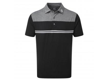 FOOTJOY pánské tričko H.Colour Block Lisle černo/bílé