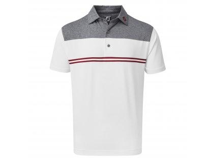 FOOTJOY pánské tričko H.Colour Block Lisle modro/bílo/červené