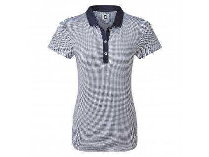 FOOTJOY dámské tričko Cap Sleeve Micro Interlock Dot Print modré