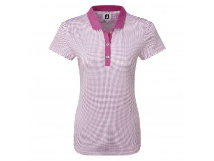 FOOTJOY dámské tričko Cap Sleeve Micro Interlock Dot Print růžové