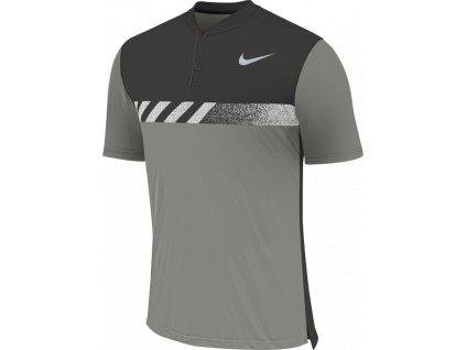 NIKE pánské tričko MM Fly Framing Block šedo-černé (Velikost oblečení XXL)