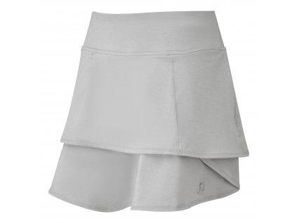 FOOTJOY Lightweight Jersey Knit Layered dámská sukně šedá
