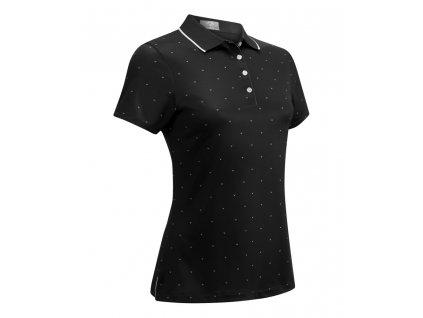 CALLAWAY dámské tričko Chevron Polka Dot černé