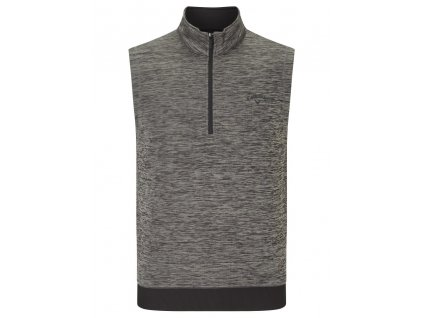 CALLAWAY 1/4 Zip Water Repellent pánská golfová vesta tmavě šedá