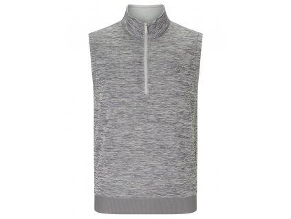 CALLAWAY 1/4 Zip Water Repellent pánská golfová vesta šedá zepředu