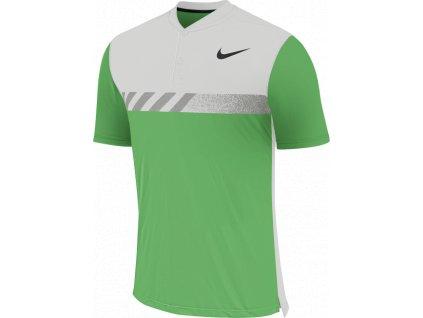 NIKE pánské tričko MM Fly Framing Block bílo-zelené (Velikost oblečení M)