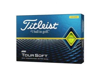 TITLEIST Tour Soft pánské golfové míčky žluté-dozen