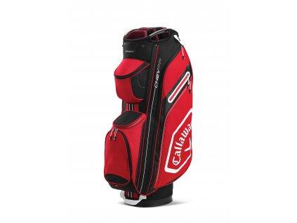 Callaway Chev 14+ cart bag červeno-černý