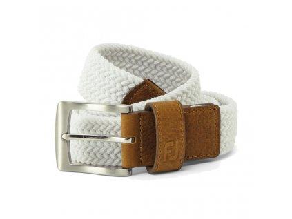 FOOTJOY pánský pásek Braided Regular bílý