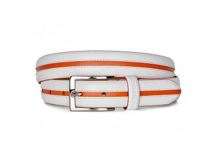ECCO Golf Ulf dámský pásek bílo-oranžový
