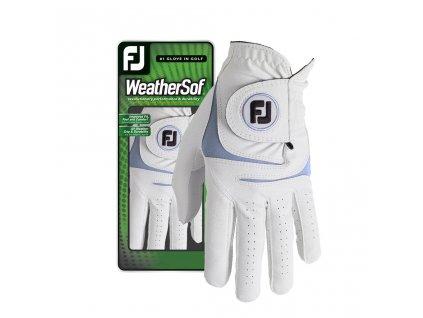 FOOTJOY WeatherSof pánská golfová rukavice na levou ruku bílo-modrá