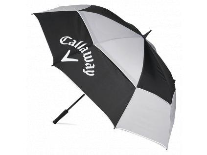 """CALLAWAY Tour Authentic deštník double canopy 68"""" černo-šedo-bílý"""