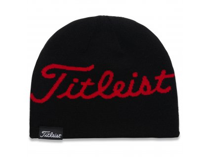 TITLEIST Lifestyle zimní čepice černá/červená