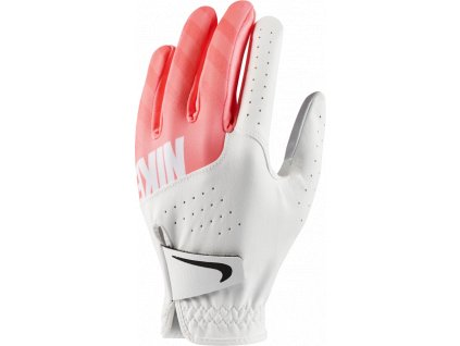NIKE dámská rukavice Sport bílo-růžová (Velikost rukavic S)