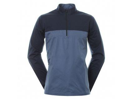 NIKE Shield Victory Half Zip pánská golfová bunda modrá zepředu