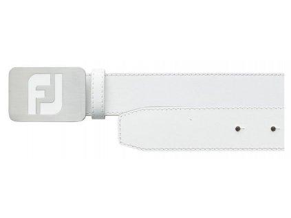 FOOTJOY White pánský pásek kožený bílý