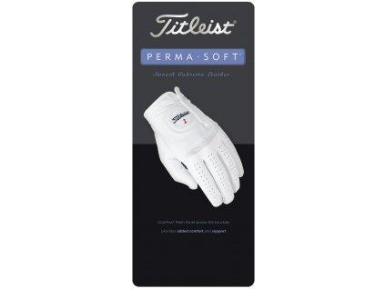 TITLEIST pánská rukavice Perma soft bílá (Velikost rukavic ML)