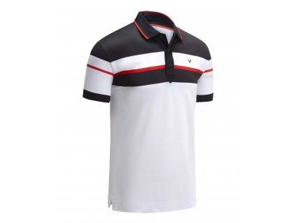 CALLAWAY Chest Block pánské tričko bílo-černé zepředu