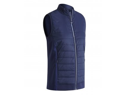 CALLAWAY Lightweight Quilted dámská golfová vesta modrá zepředu