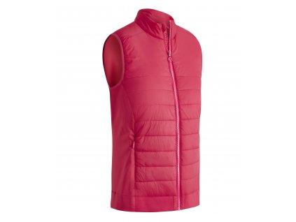 CALLAWAY Lightweight Quilted dámská golfová vesta růžová zepředu