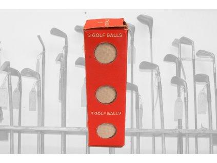 Historické golfové míčky PLAYER v papírovém krabičce (3ks)