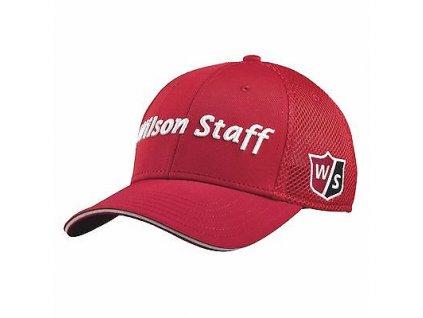 WILSON pánská čepice W/S Tour D200 Mesh červená