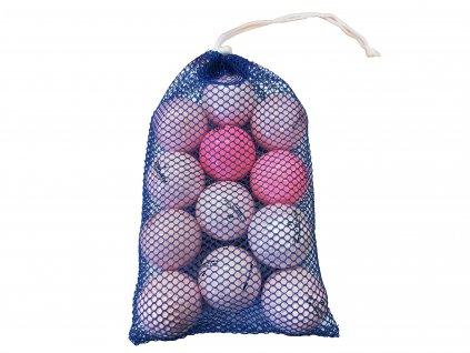 Síťka hraných míčků růžové A/B (12 ks)