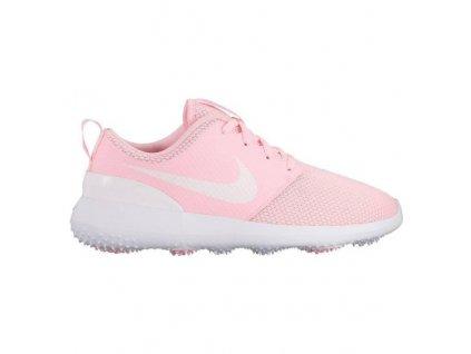 NIKE Roshe G dámské golfové boty růžovo-bílé