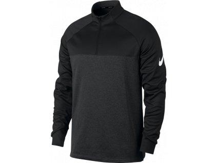 NIKE pánská mikina THERMA-FIT 1/2 Zip černo-šedá (Velikost oblečení XXL)