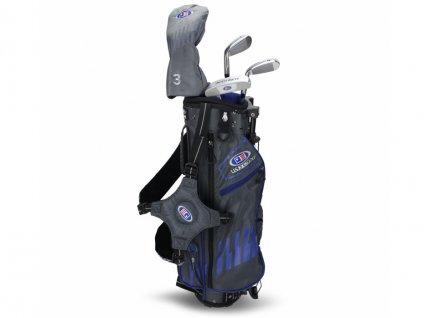 US Kids Golf WT25-s dětský golfový set UL45 (114 cm) šedivo-modrý  + Velké balení týček 20 ks