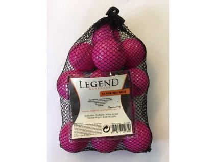 Legend golfové míčky růžové (12 ks)
