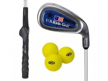 US Kids Golf Yard dětská golfová hůl se 3 míčky