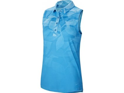 NIKE Dry Fairway print dámské tričko modré
